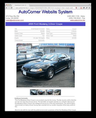 craigslist and backpage templates autocorner used car dealer website system. Black Bedroom Furniture Sets. Home Design Ideas
