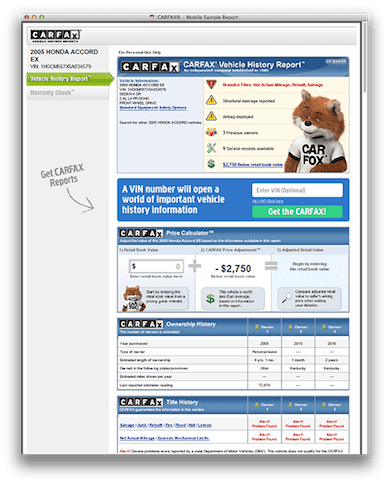Carfax For Dealers Integration Into Your Autocorner Powered Website