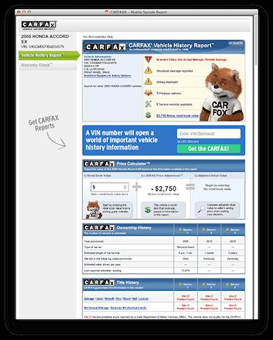 Carfax Data Integration - AutoCorner Used Car Dealer Website System