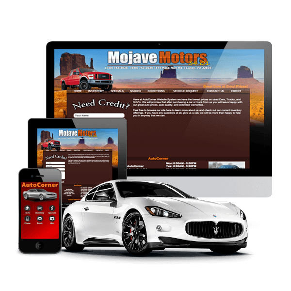 Websites for Used Car Dealers - Website System by AutoCorner, LLC
